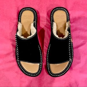 UGG Shoes - NWOT UGG AUSTRALIA Slip On Sandals Black Suede NEW